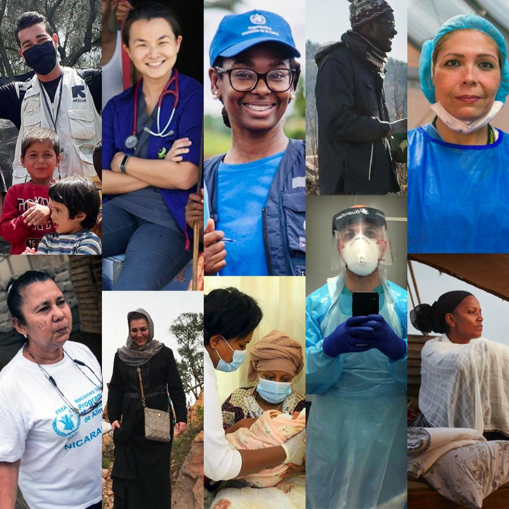 A grid of 10 humanitarian heroes from the campaign, from all over the world.